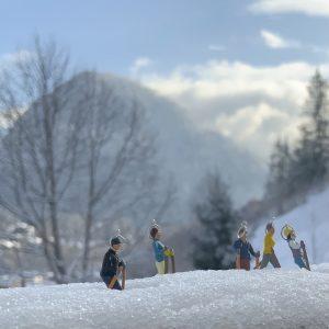 skifahren, schmuck, silber, handemacht